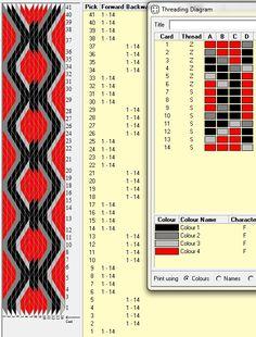 14 tarjetas, 4 colores, 1F y secuencias de 4B-4F // sed_216༺❁