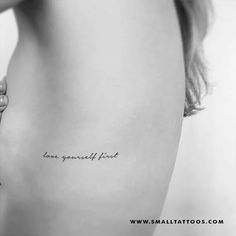 Love Yourself First Temporary Tattoo (Set of 3) – Small Tattoos