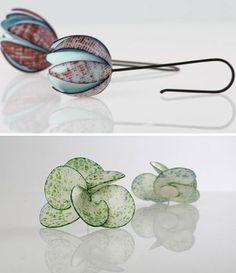 paper earrings by ukrike hamm (lives and works in berlin)