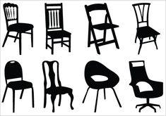 Chair Silhouette Clip Art Pack
