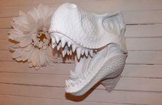 Faux Taxidermy / Faux TRex / Dinosaur / Boys Room by Theshabbyshak, $145.00