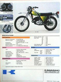 1973- Kawasaki KS125 Brochure https://plus.google.com/+JohnPruittMotorCompanyMurrayville/posts