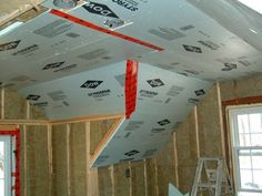 Insulating the side attic, knee wall and cathedral slope ceiling on the second floor.