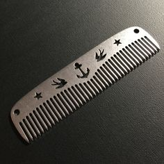 Our Sailor comb is crafted with iconic Tattoo art and Sailor images machined into the spine of the comb. ...