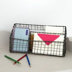 Industrial Wire Desk Tidy - View All Home Accessories - Home Accessories