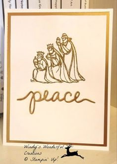 Windy's Wonderful Creations, Stampin' Up!, All Ye Faithful, Christmas Greetings thinlits dies