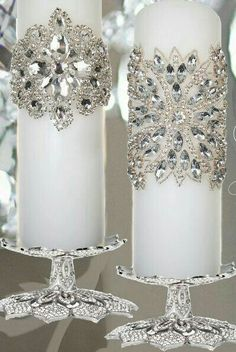 Dreaming of a White Christmas / karen cox. Rhinestone Candle Wraps Dreaming of a White Christmas / karen cox. Christmas Candle Decorations, Christmas Candles, Christmas Wedding, Christmas Crafts, Wedding Decorations, Holiday Decor, Elegant Christmas Centerpieces, Elegant Christmas Decor, Wedding Ideas