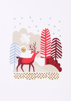 print & pattern: CARDS - nadia taylor for lagom . print & pattern: CARDS - nadia taylor for lagom Illustration Noel, Winter Illustration, Pattern Illustration, Christmas Cards Illustration, Art Illustrations, Christmas Design, Christmas Art, Christmas Patterns, Card Patterns