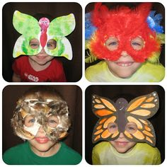 Relentlessly Fun, Deceptively Educational: Making Bird & Butterfly Masks