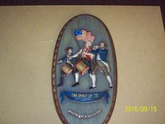 The Spirit of '76 Embosograph Display Wall-Hanger Picture wood Estate  #1776AmericanHistory