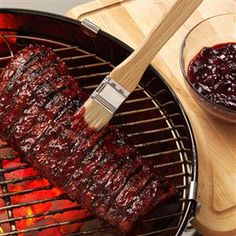 Cherry Barbecue Sauce Recipe -You can use fresh or frozen cherries to make this flavorful barbecue sauce. It tastes great on ribs and chicken! —Ilene Harrington, Nipomo, California