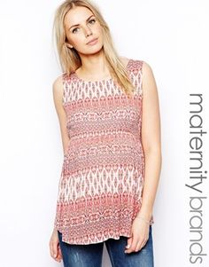 New Look Maternity Printed Pinktuck Blouse