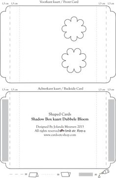 shadow card - tutorial and template - bjl