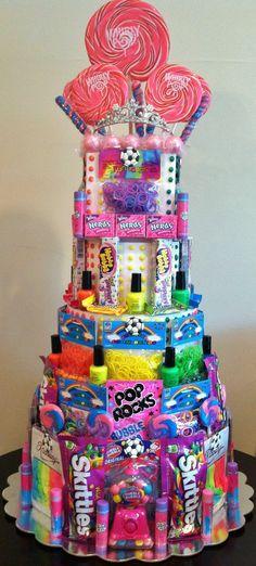 Rainbow Loom Birthday Party! Rainbow Loom Party Favors Candy Cake