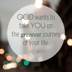 The greatest journey.