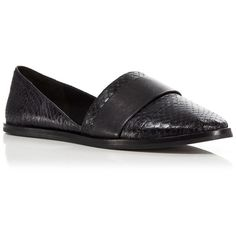 Vince Loafer Flats - Mason (275 CAD) ❤ liked on Polyvore featuring shoes, loafers, black, leather loafers, slip-on shoes, leather flats, vince shoes and slip on loafers
