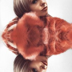 Peach faux fur | Oh My Love  #fauxfur #peach #fur #jacket #outfit #girl #winter