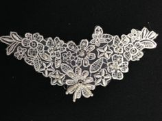 Beaded Applique 3 Colors Available, 3.25x6.5 inch, Lot of 3 Pieces Amore Lace and Fabrics http://smile.amazon.com/dp/B00H7HGVB6/ref=cm_sw_r_pi_dp_tEM2tb10VW43SPMB// $ 5.18 for lot of 3, also in black , ivory , white
