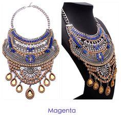 Magenta statement necklaces!!  Instagram: @magentachihuahua Facebook: magenta accesorios Chihuahua