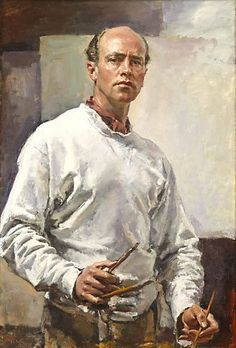 Self portrait, 1957  by Ivor Hele (Australian: 1912-1993) - WINNER Archibald Prize 1957