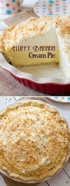"""Just no coconut. My bf doesn't """"do"""" coconut. Easy Desserts, Delicious Desserts, Yummy Food, Cream Pie Recipes, Banoffee Pie, Cupcakes, Banana Recipes, Banana Pie Recipe, Sweet Pie"""