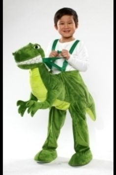 Dino Dinosaur Costume Dress Up Infant Toddler 2T 3T Green Rider | eBay