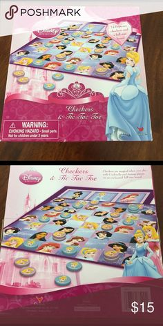 👑Calling All Princesses-Must Have Princess Game👑 Calling all Princess Lovers!  24 Princess Checkers with Full Size Board.  Cutest thing ever and a total score for your little princess lover.  Super cute and hours of Princess fun!! 💕 Disney Other