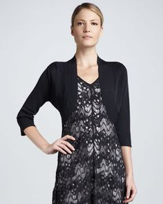 Crinkle Knit Shrug by Eileen Fisher at Neiman Marcus.
