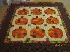 pumpkin quilt blocks | Quilts ideas using my 2 1/2 inch squares box