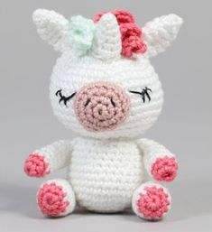Love Crochet, Needle Felting, Lana, Hello Kitty, Unicorn Pattern, Free Pattern, Tejidos, Felting