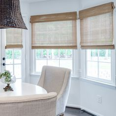 Simple Woven Wood Bamboo Shades For Less JustBlinds. Motorized Window Blinds Services By Alko Window Covering . Home and Family Style At Home, Boho Deco, Woven Wood Shades, House Blinds, Kitchen Window Treatments, Window Coverings, Home Fashion, Home Projects, Family Room