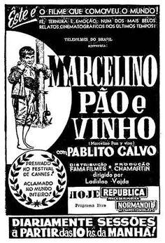 """ANOS DOURADOS: IMAGENS & FATOS: IMAGENS - Cartaz: """"Marcelino, Pão e Vinho"""""""