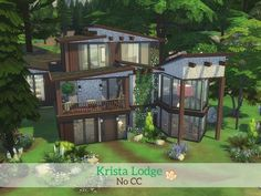 Sims 4 Updates: TSR - Houses and Lots, Residential Lots : Krista Lodge by madabb13, Custom Content Download!