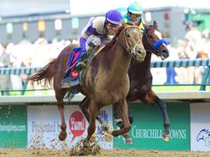I'll Have Another chasing down Bodemister to take the Kentucky Derby, 2012! And the Preakness, too!!