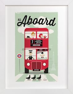 All Aboard by One Little Bird at minted.com