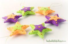 Handmade by Helga: Felt Christmas tree Ornaments