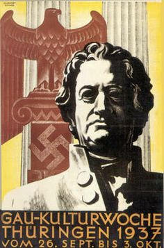 Goethe., Third Reich propaganda poster 1937