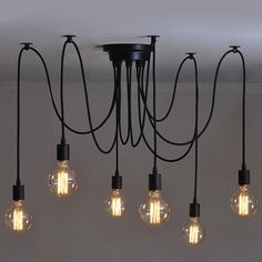 6 Heads Vintage Industrial Edison Ceiling Lamp Chandelier Pendant Light Fixture * Unbelievable  item right here! : home diy lighting