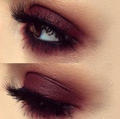 Burgundy makeup look to try out with your favorite eyeshadow palette. Or the Anastasia Beverly Hills Modern Renaissance palette. Love it!