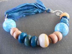 Blue Skies of Spring Bracelet  Sky Blue Jasper by SoulsFireDesigns, $30.00