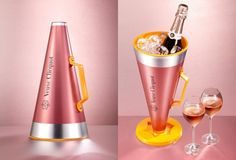 Profess your love with Veuve Clicquot Rose : Luxurylaunches Veuve Cliquot, Pernod Ricard, Champagne, Bottle Packaging, Lava Lamp, Rose, Packaging Design, Barware, Beverages