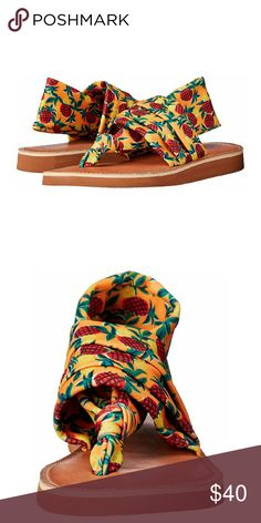 Chinese Laundry Pineapple Flip-Flop Brand new in box . Sling back style, sooo comfortable!   Offers welcome! Chinese Laundry Shoes Sandals