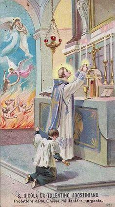 São Nicolau de Tolentino, protetor da Igreja Militante.