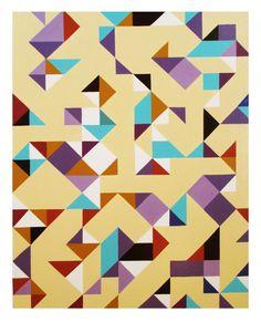 Colour/background test (2014) acrylic on canvas (40x50cm) by Tiina Lilja