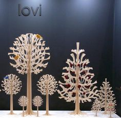 """Would """"Lovi"""" to make a tree forest in a woodland nursery! Before Christmas, Christmas Time, Christmas Crafts, Christmas Decorations, Beautiful Christmas Scenes, Fabric Ornaments, Wooden Tree, Woodland Nursery, Christmas Inspiration"""