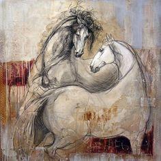 """Requiem"", mixedmedia on canvas by artist Lea Riviere at Galerie Saint-Dizier"