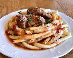 Greek Style Beef Stew in a Tomato Sauce (Moshari Kokkinisto) - My Greek Dish