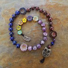 Blodeuwedd Welsh Goddess of Spring Pagan Prayer Beads