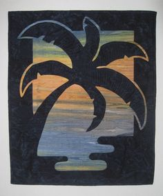 Sunset Palms Quilted Wall Hanging
