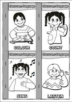 Classroom Language - mini book